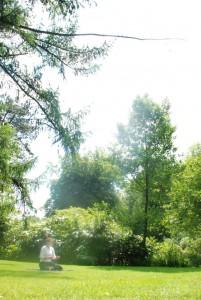 Ort der Stille in der Natur