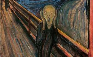 Der Schrei von Edward Munch. Ausdruck von Schmerz und Leid.